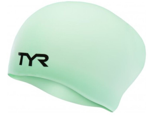 TYR Wrinkle-Free Silicone Long Hair Swimming Cap mint